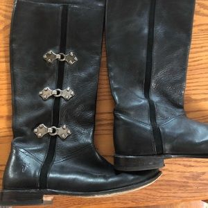 Frye Paige Tall riding boot with buckles